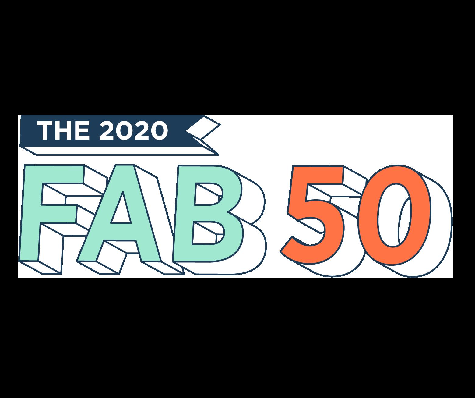 2020 FAB 50 logo square